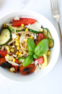 Grilled Summer Vegetable Pasta