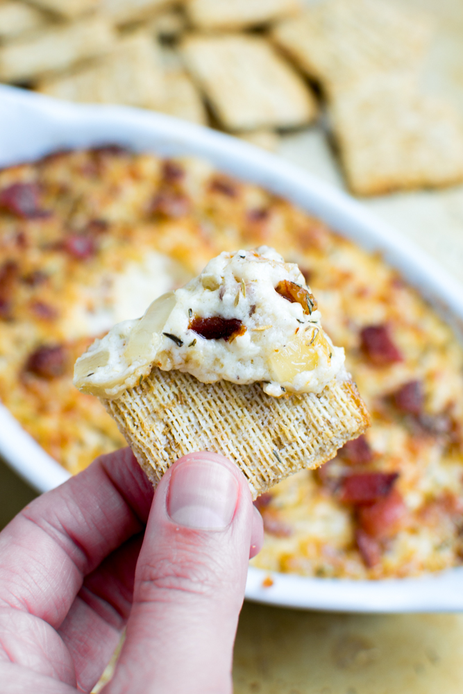 Sweet Onion and Bacon Dip | www.stuckonsweet.com