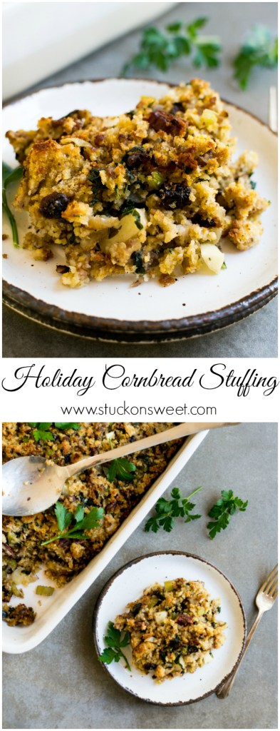 Holiday Cornbread Stuffing | www.stuckonsweet.com