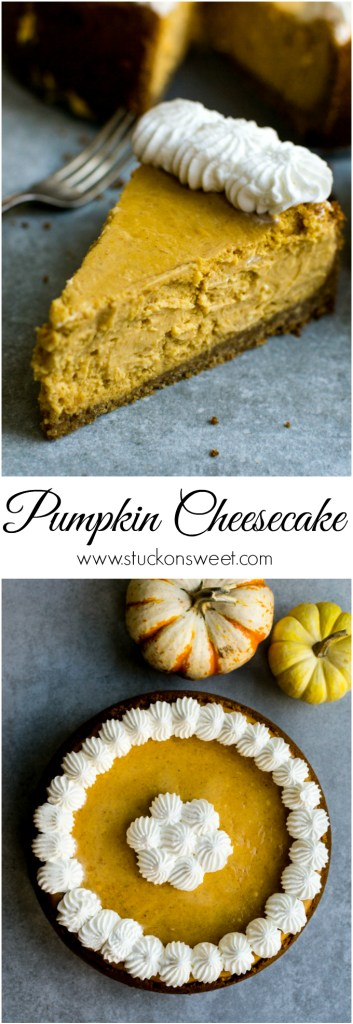 Pumpkin Cheesecake | www.stuckonsweet.com