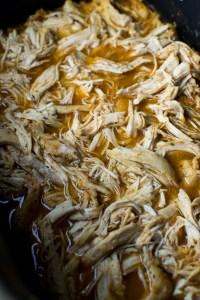 Slow Cooker Pulled Chicken | www.stuckonsweet.com