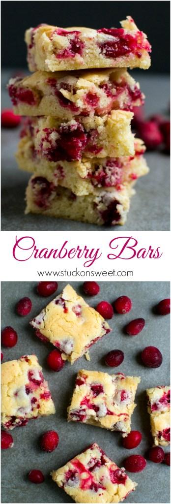 Cranberry Bars | www.stuckonsweet.com