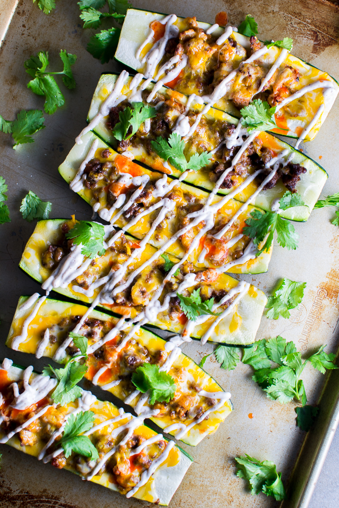 Mexican Zucchini Boats | www.stuckonsweet.com