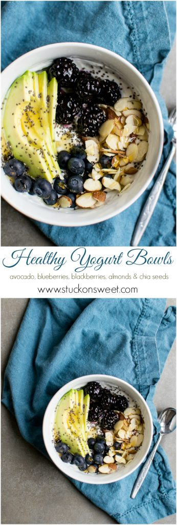 Healthy Yogurt Bowls | www.stuckonsweet.com