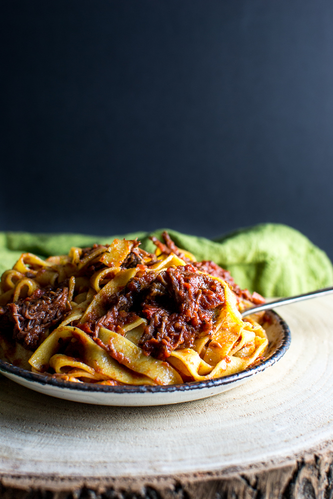 Slow Cooker Short Rib Pasta | www.stuckonsweet.com