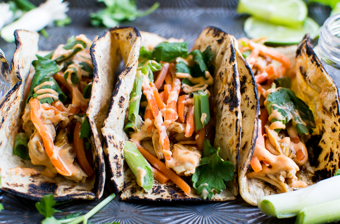 Chicken Teriyaki Tacos are an easy semi-homemade meal that tastes completely homemade!