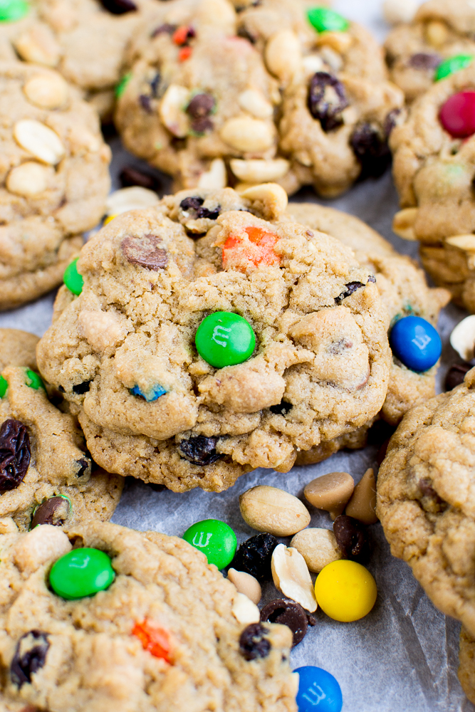 Trail mix cookies are the perfect treat