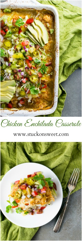 Chicken Enchilada Casserole is an easy weeknight meal!