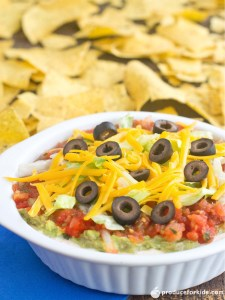 Healthier 7 Layer Taco Dip
