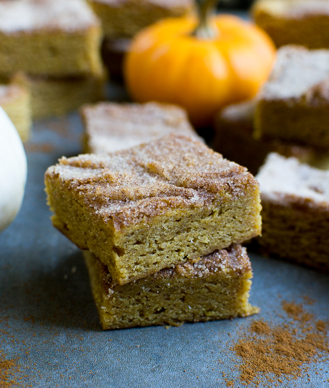 Pumpkin Snickerdoodle Bars