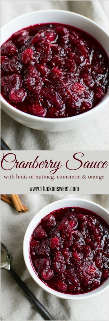 Easy, one pot Thanksgiving cranberry sauce! | www.stuckonsweet.com