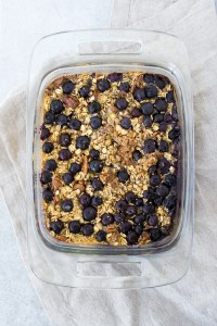 picture of blueberry baked oatmeal