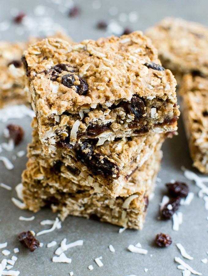 Oatmeal Raisin Breakfast Bars