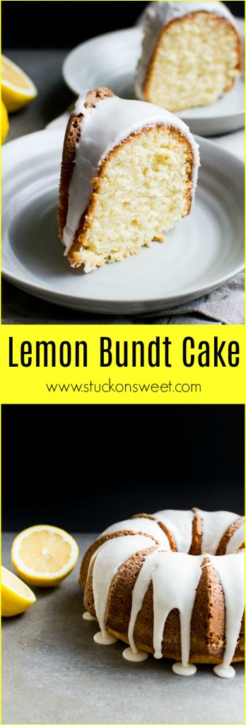 A moist lemon cake made with sour cream and the perfect amount of lemon. This cake recipe is down right amazing!