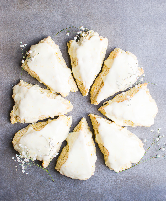 picture of orange scones with icing