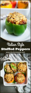 Stuffed Peppers (Italian Style) Such a great, flavorful dinner that's ready in under an hour!
