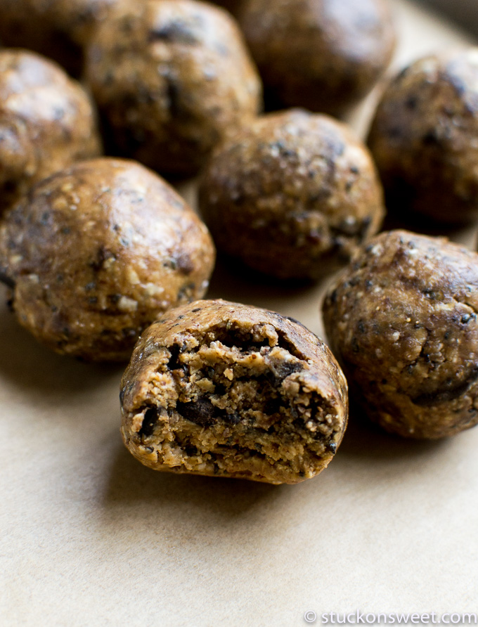 peanut butter chocolate chip balls