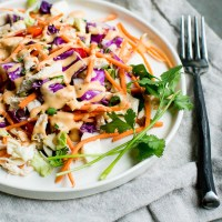 Chopped Salad with Sriracha Ranch