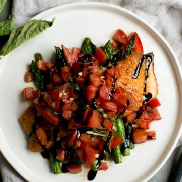 Beautiful bruschetta salmon