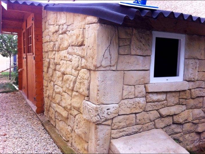 cabanon enduit imitation pierre