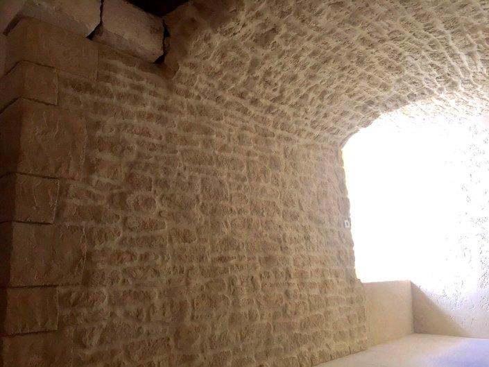 enduit aspect pierre intérieur