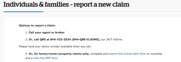 QBE Renters Insurance