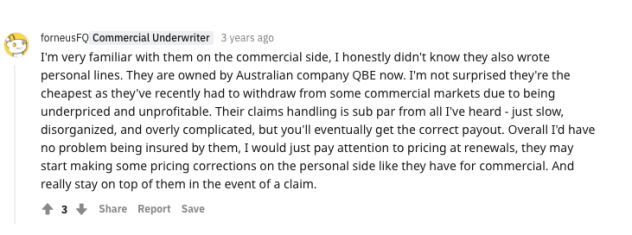QBE Renters Insurance Review Reddit