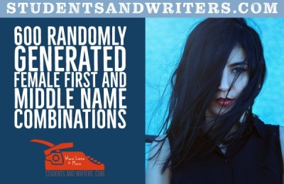 Read more about the article 600 Randomly Generated Female First and Middle Name Combinations