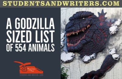 Read more about the article A Godzilla sized list of 554 animals