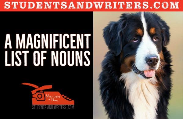 A magnificent list of nouns