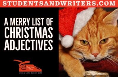 A merry list of Christmas adjectives