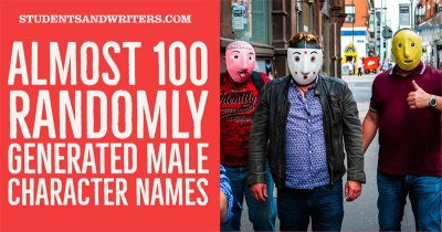 Read more about the article Almost 100 Randomly Generated Male Character Names