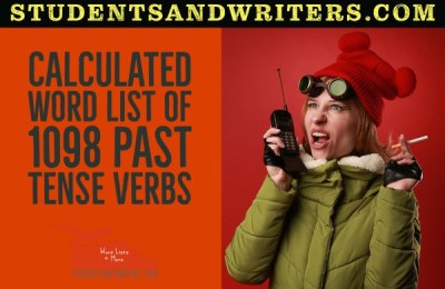 Read more about the article Calculated word list of 1098 past tense verbs