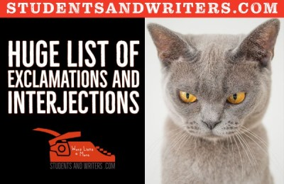 Read more about the article Huge List of Exclamations and Interjections