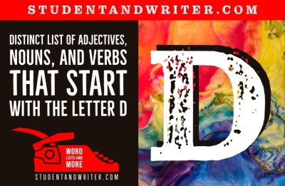 Read more about the article Nouns, Adjectives and Verbs That Start with the Letter D