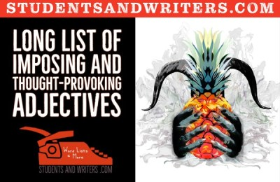 Read more about the article Long list of imposing and thought-provoking adjectives