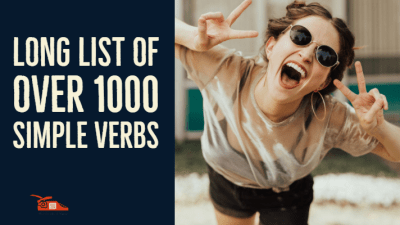 Long list of over 1000 simple verbs