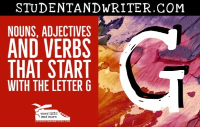 Read more about the article Nouns, Adjectives and Verbs That Start with the Letter G