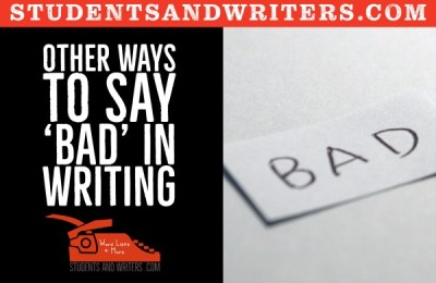Other ways to say 'bad' in writing