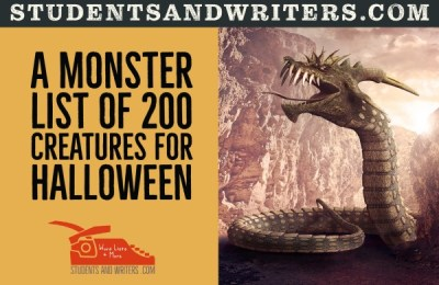 Read more about the article A monster list of 200 creatures for Halloween