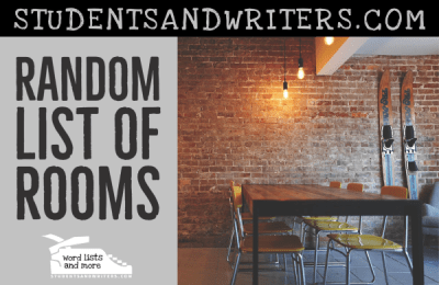 Read more about the article Random List of Rooms in a House