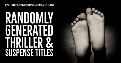 Read more about the article Randomly Generated Thriller & Suspense Titles