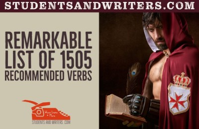 Remarkable list of 1505 recommended verbs