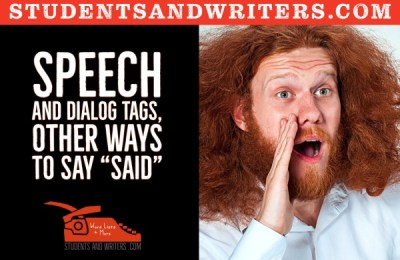 """Read more about the article Speech and dialog tags, other ways to say """"said"""""""