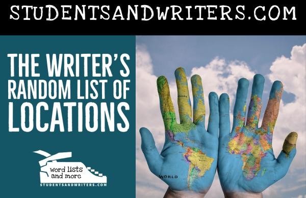 The Writer's Random List of Locations