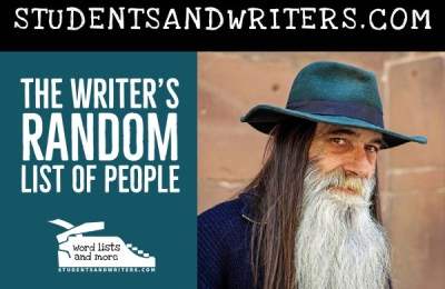 Read more about the article The Writer's Random List of People, Jobs and Relations