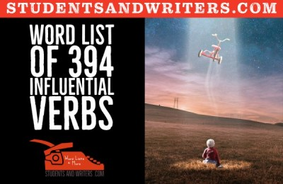 Word list of 394 influential verbs