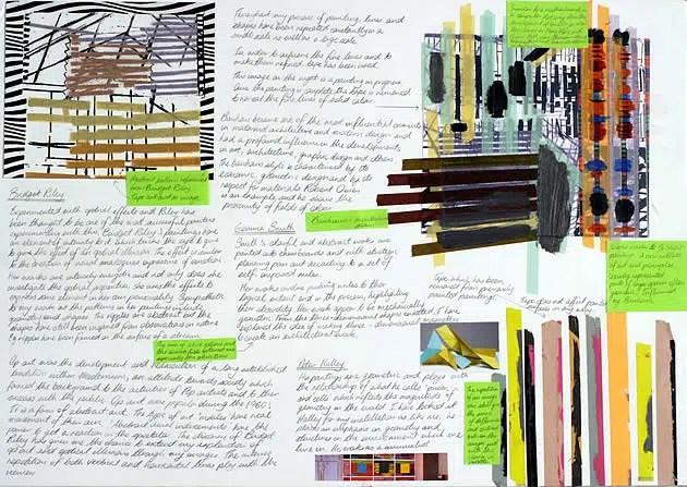 NCEA Scholarship painting workbook