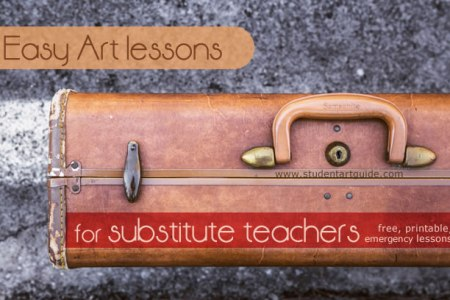 Easy Art lessons for substitute teachers  free   printable   Awesome Art lessons for substitute