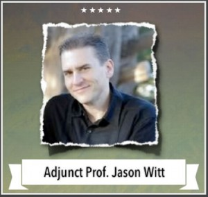 Adjunct Professor, Jason Witt  |  Student Caring